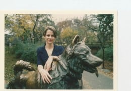 The author and Balto
