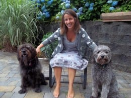 Audrey Vernick with Rookie and Hootie