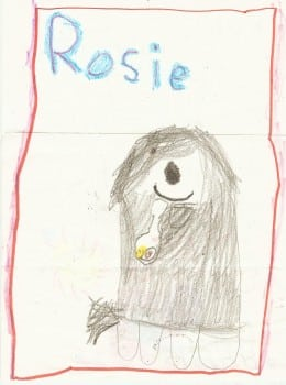 Stephanie Calmenson Child's drawing of Rosie